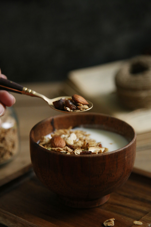 no-person-wood-food-bowl-spoon 图片素材