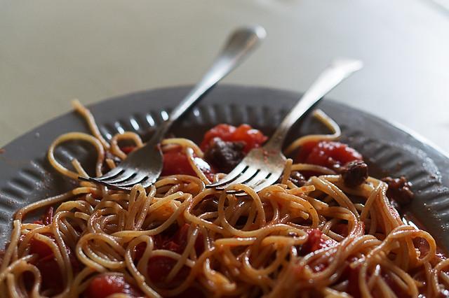 food-pasta-no-person-spaghetti-closeup 图片素材