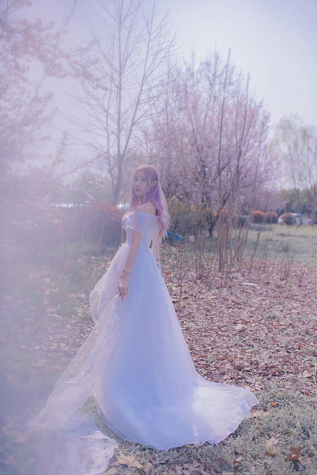 wedding-bride-veil-girl-dress picture material