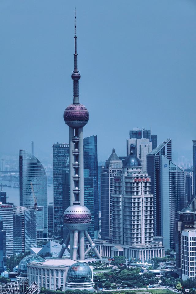 上海地标打卡 picture material