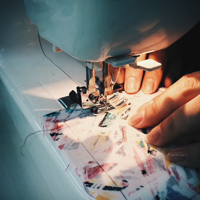 people-hand-sewing-creativity-wear picture material