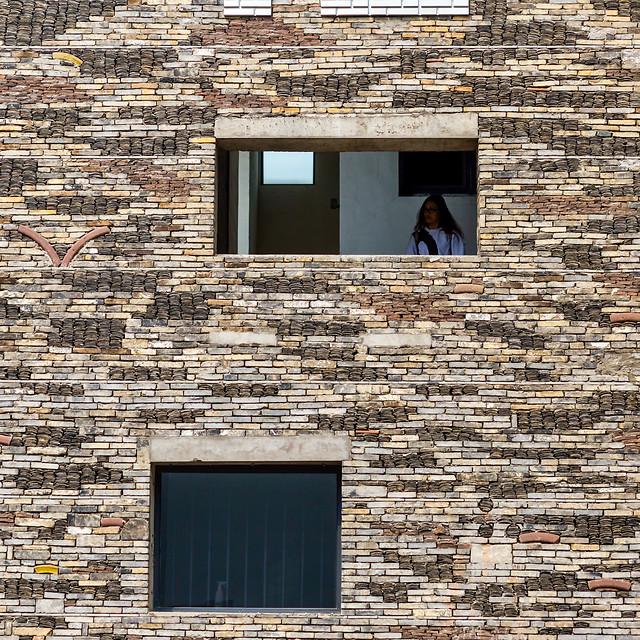 浙江杭州-中国美术学院象山校区-校园-艺术-窗-极简 picture material