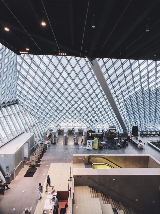 architecture-ceiling-building-seattle-central-library-no-person picture material