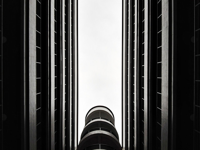 monochrome-tower-architecture-black-modern picture material