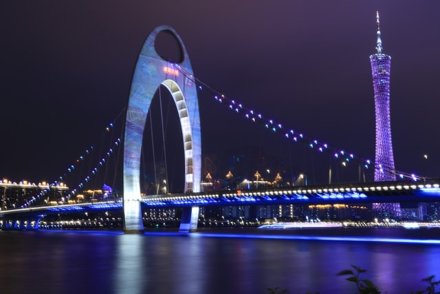 guangzhou-tower-building-guangzhou-liede-bridge-bridge picture material