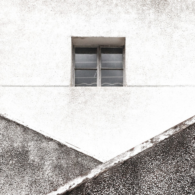 monochrome-window-house-street-building picture material