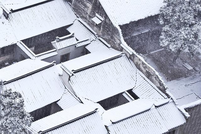 """暴雪中的""""真古建"""" picture material"""
