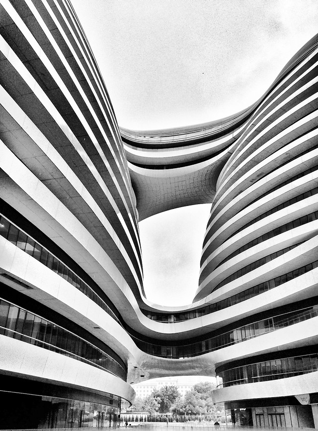 monochrome-architecture-black-white-modern-city 图片素材