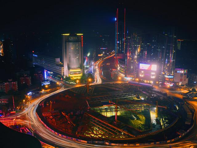 metropolitan-area-motion-blur-cityscape-light picture material