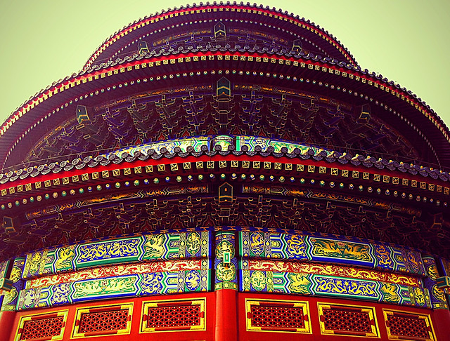 art-decoration-travel-temple-pattern picture material