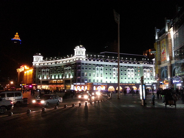 travel-evening-city-street-light picture material