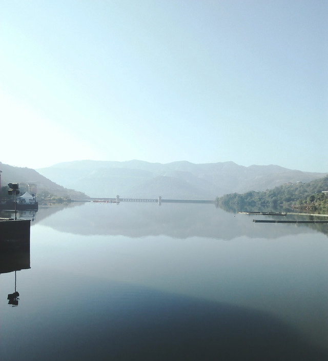 water-lake-landscape-no-person-fog picture material