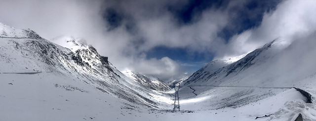 snow-mountain-winter-landscape-mountain-peak picture material