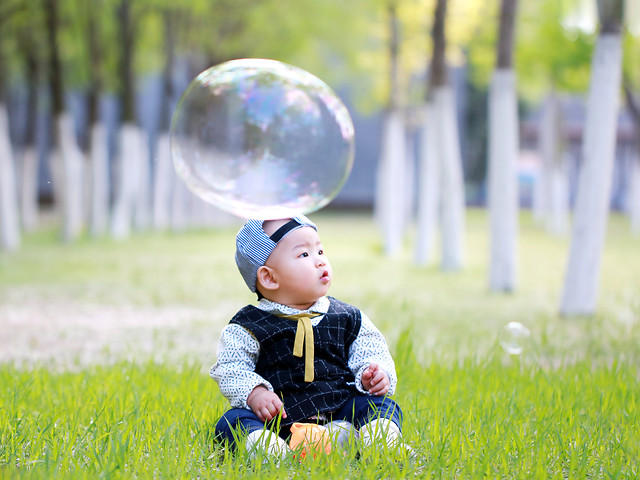 child-grass-nature-fun-summer picture material