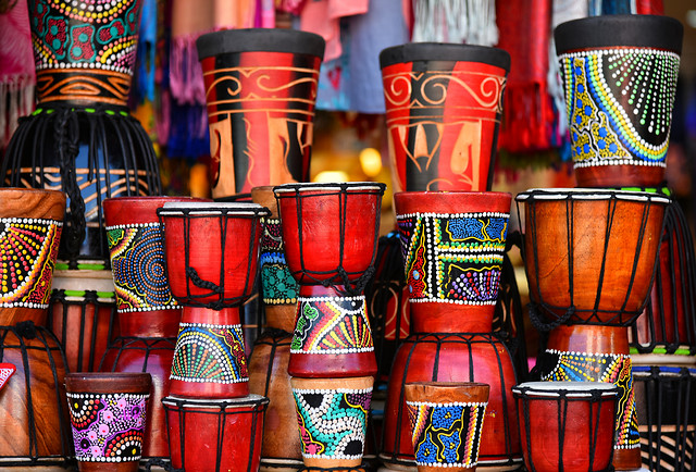 drum-red-colorful-souvenir-traditional picture material