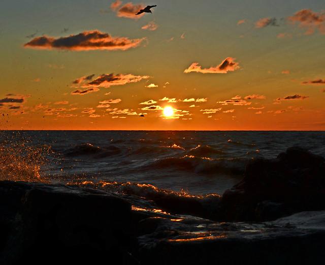 sunset-sea-sky-sun-ocean picture material