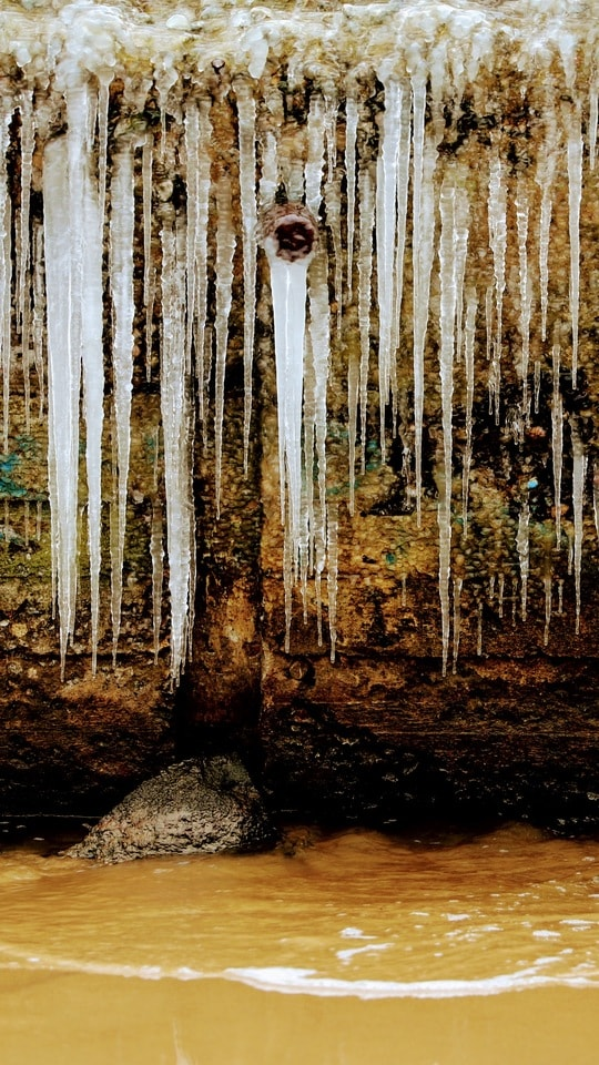 ice-water-nature-reflection-formation picture material