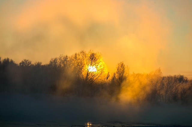 fog-dawn-sunset-mist-landscape 图片素材