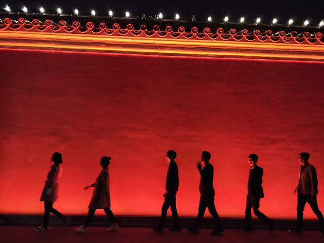 people-silhouette-red-man-stage picture material