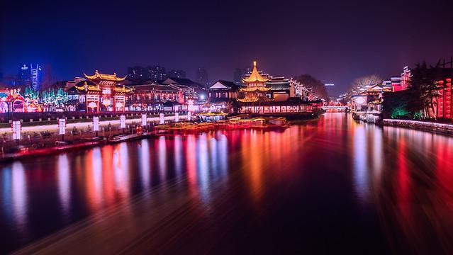 water-reflection-bridge-evening-dusk 图片素材