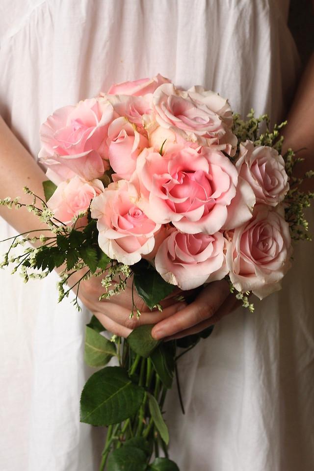 wedding-bouquet-bride-rose-flower picture material