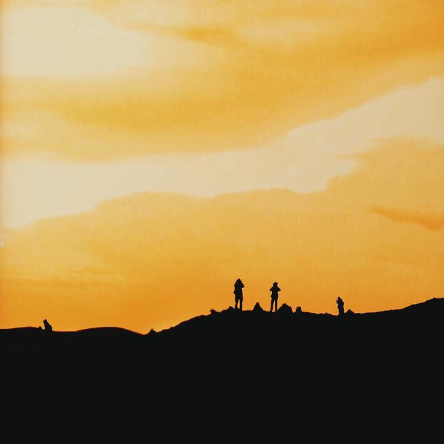 sunset-dawn-silhouette-sun-landscape picture material