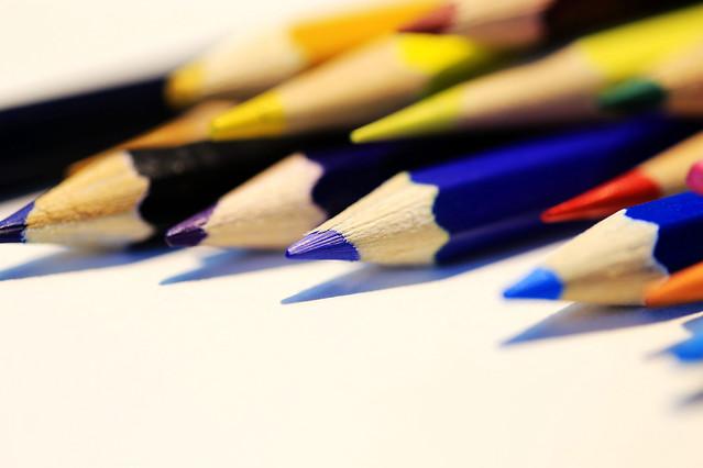 pencil-composition-school-education-crayon picture material