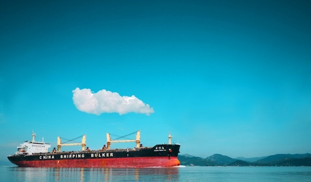 cloud-day-sea-ferry-water-transportation picture material