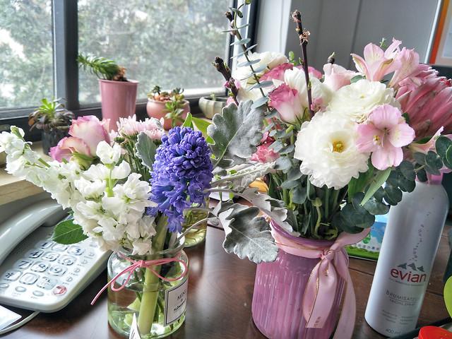 flower-vase-bouquet-flora-decoration picture material