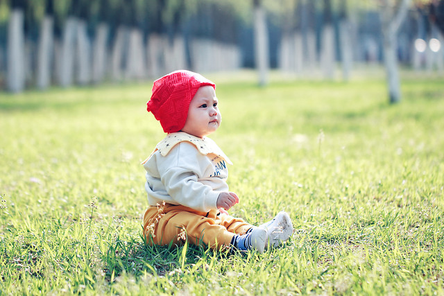 child-grass-baby-little-summer picture material