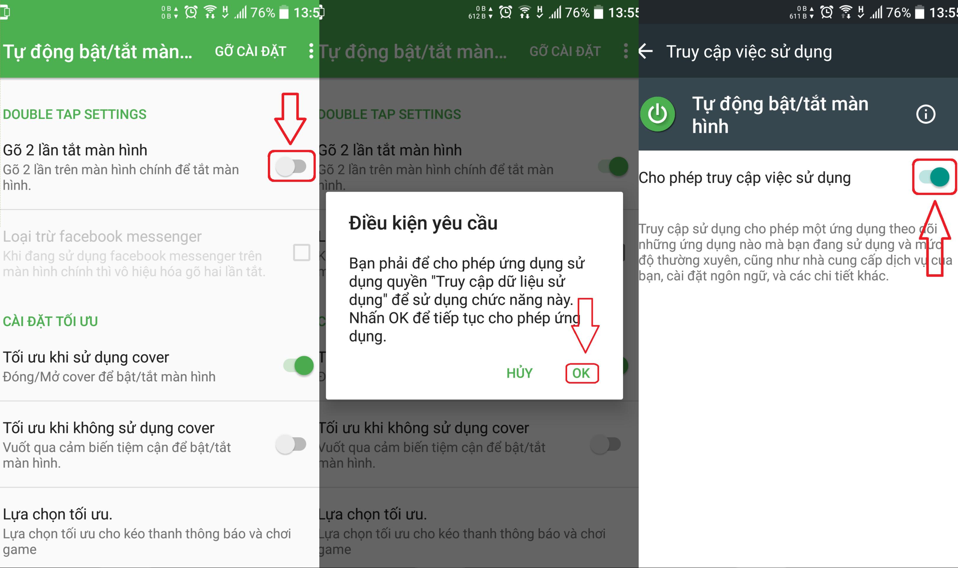 Mở khóa thiết bị Android bằng cảm biến